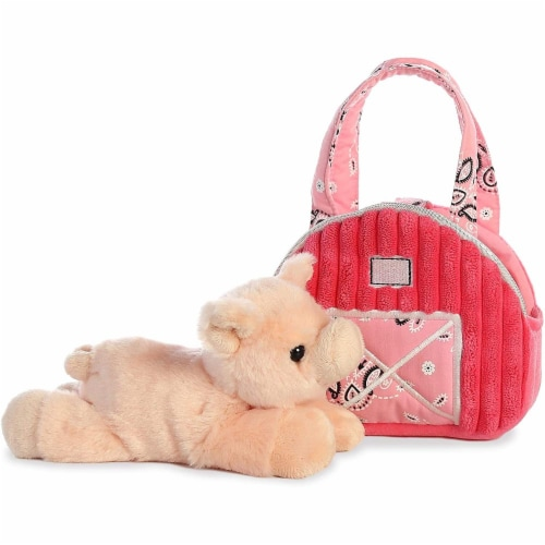 "Aurora World Inc. 7"" Pink Barn Fancy Pal Pet Carrier Perspective: top"