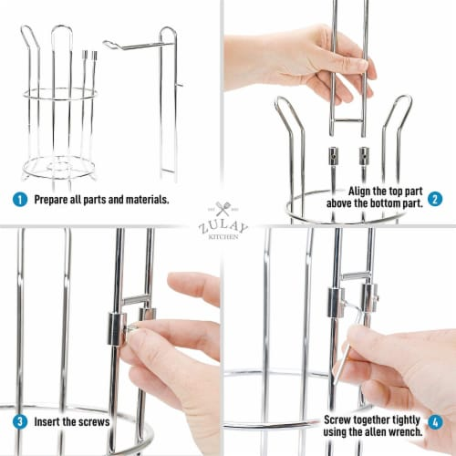 Toilet Paper Holder Stand & Storage Holds 3 Extra Rolls for Bathroom Perspective: top