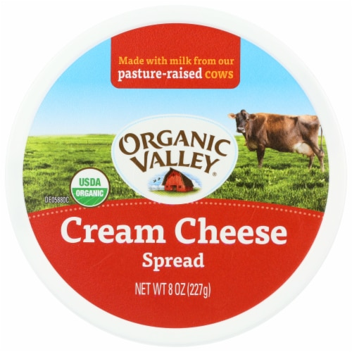 Organic Valley Cream Cheese Spread Perspective: top