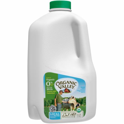 Organic Valley Fat Free Skim Milk Perspective: top