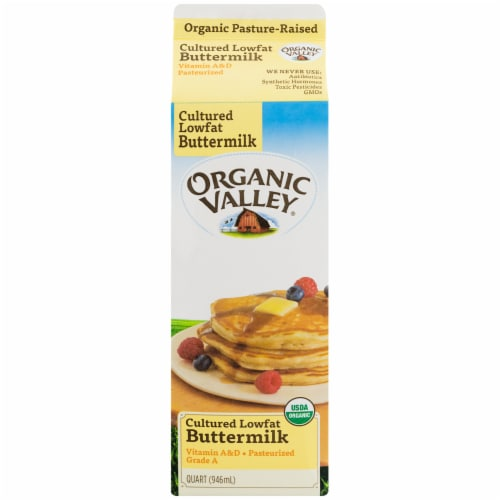 Organic Valley Cultured Lowfat Buttermilk Perspective: top