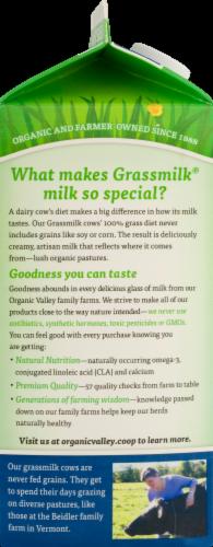Organic Valley Grassmilk 2% Reduced Fat Milk Perspective: top