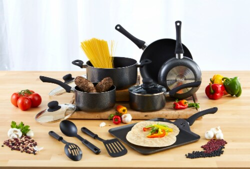 IMUSA Nonstick Cookware Set - Charcoal Perspective: top