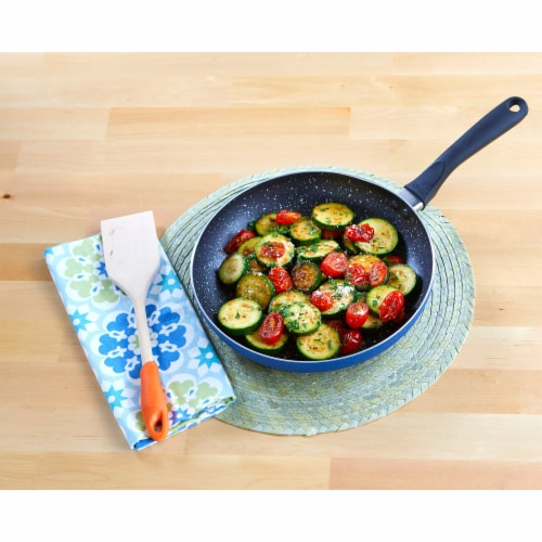 IMUSA Speckled Stone Frying Pan - Blue Perspective: top
