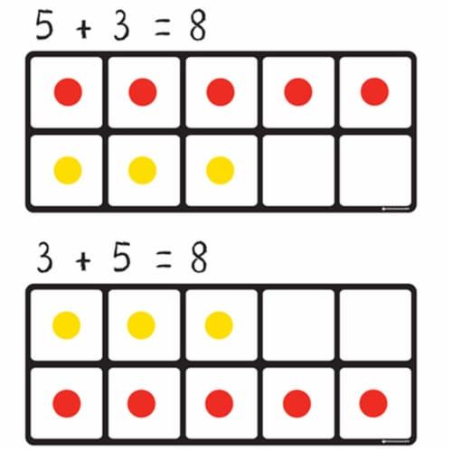 Dowling Magnets Magnet Math Ten Frames Magnet Set Perspective: top