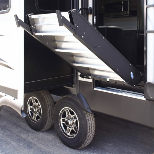 MORryde StepAbove 31.5 to 37 In 3 Step Portable RV Camper Stairs w/ Strut Assist Perspective: top