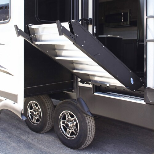 MORryde StepAbove 37.5 to 42 In 4 Step Portable RV Camper Stairs w/ Strut Assist Perspective: top