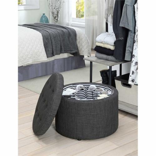 Designs4Comfort Round Shoe Ottoman Perspective: top