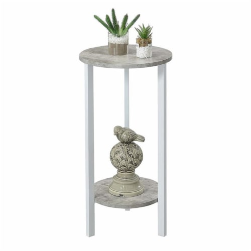 Convenience Concepts Graystone 31  Plant Stand in Gray Faux Marble Wood Finish Perspective: top