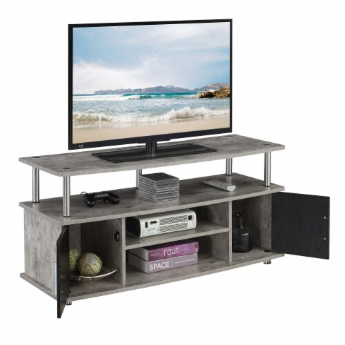 Convenience Concepts Designs2Go Monterey 47  TV Stand in Weathered Gray Wood Perspective: top