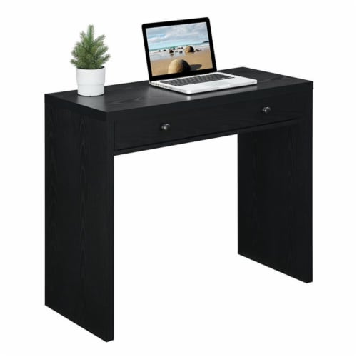 Convenience Concepts Northfield 36-inch Desk with Drawer in Black Wood Finish Perspective: top