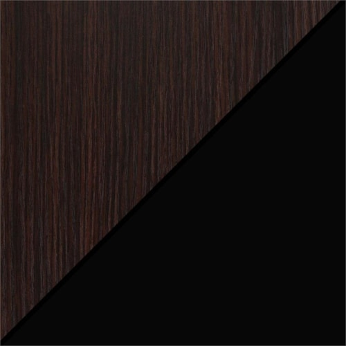 Convenience Concepts Xtra Folding Four-Tier Bookshelf in Espresso Wood Finish Perspective: top