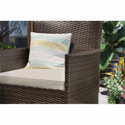 Longboat Key Brown Rattan Bistro Table and Chairs Perspective: top