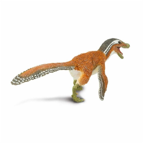 Feathered Velociraptor Toy Perspective: top
