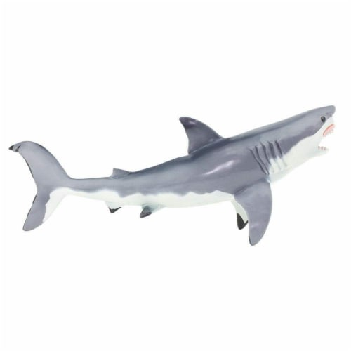 Great White Shark Toy Perspective: top