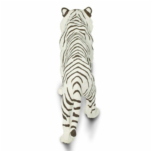 White Siberian Tiger Toy Perspective: top