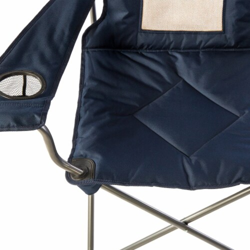 Kamp Rite KAMPCC035 Padded Folding Outdoor Camping Lounge Chair with Mesh Back Perspective: top