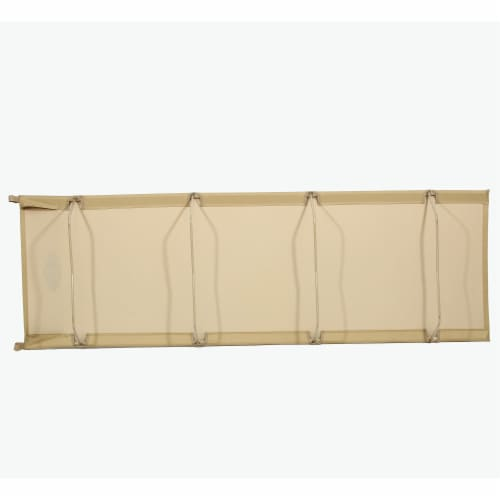Kamp-Rite Compact Lightweight Economy Cot, Use for Portable Lounge or Bed, Tan Perspective: top