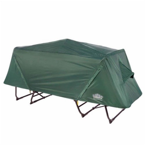 Kamp-Rite Oversize Portable Versatile Cot, Chair, and Tent, Easy Setup, Green Perspective: top