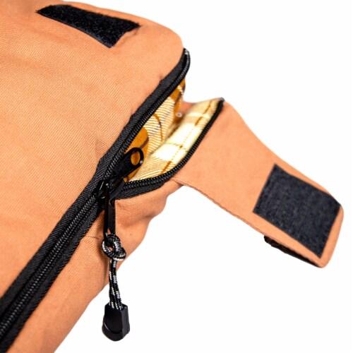 Kamp-Rite 35 x 78 Inch Cotton Canvas Rectangular Sleeping Bag 0 Degree, Khaki Perspective: top
