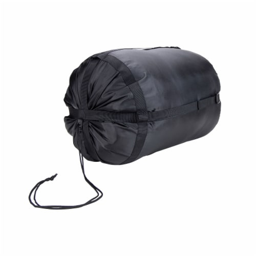 Kamp-Rite 33 x 75 Inch Mummy Style Rip Stop Sleeping Bag 40 Degree, Green 2 Tone Perspective: top
