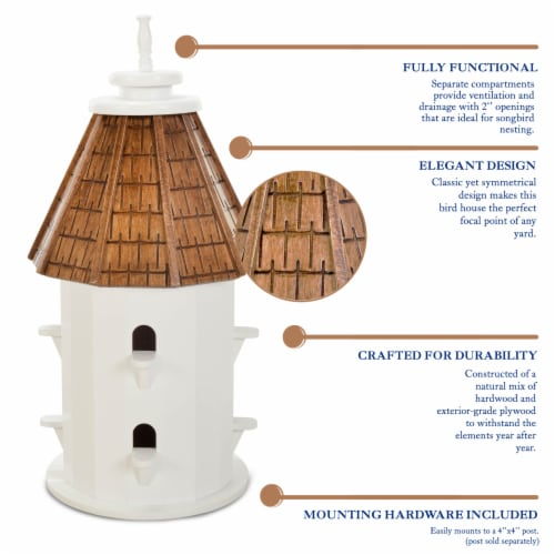 Castaway Two-Tiered Bird House Perspective: top