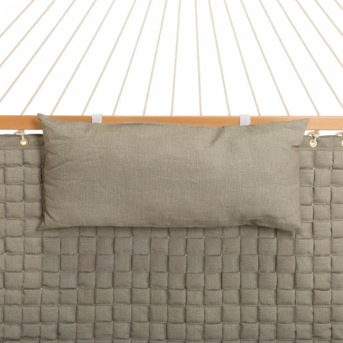 Large Soft Weave Hammock with Pillow & Storage Bag - Flax Perspective: top