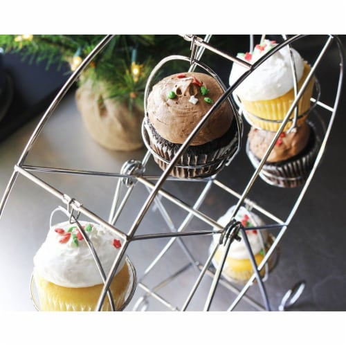 Ferris Wheel Cupcake Dessert Stand Carrier Holder for Birthday  Wedding Party Perspective: top