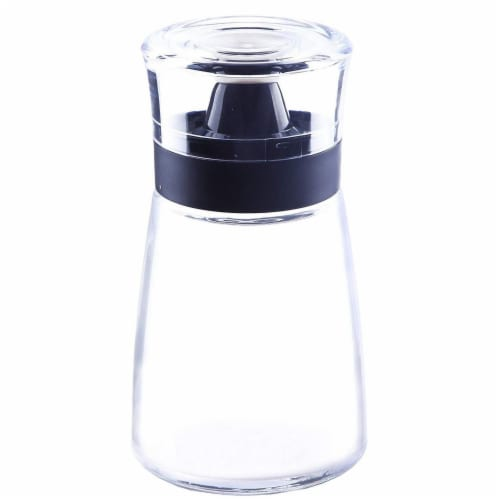 5.5oz Oil and Vinegar Glass Cruets Dispensers with Sealing Caps, 2 Pc Set Perspective: top