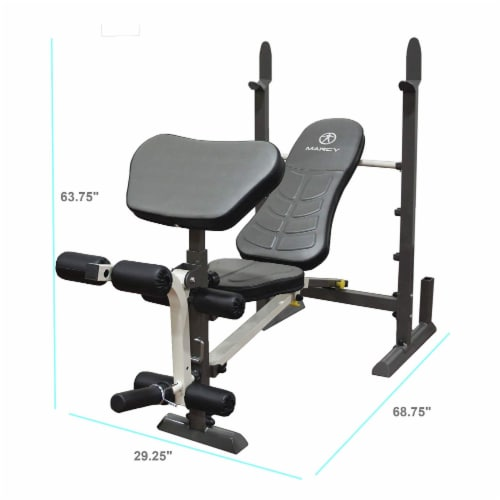 Marcy MWB-20100 Adjustable, Folding Standard Full Body Workout Weight Bench Perspective: top