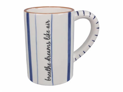 Ceramic Blue and White 4 PC. Mug Set Perspective: top