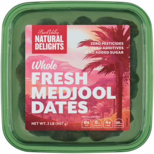 Bard Valley Natural Delights Whole Fresh Medjool Dates Perspective: top