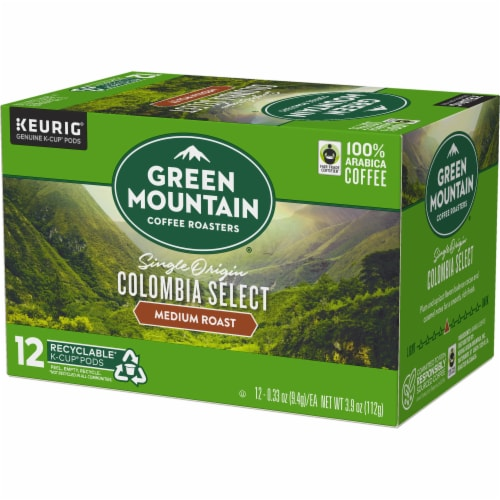 Green Mountain Coffee Colombia Select Medium Roast K-Cup Pods Perspective: top