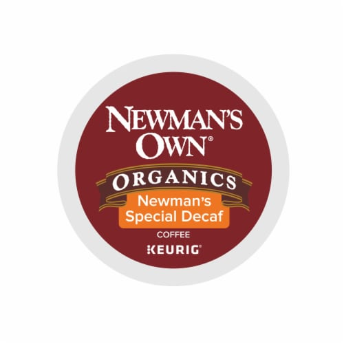 Newman's Own Organics Special Decaf Medium Roast Coffee K-Cup Pods Perspective: top