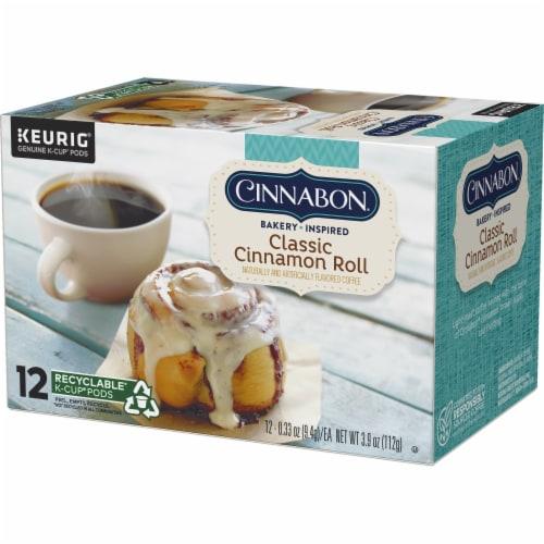 Cinnabon Classic Cinnamon Roll Light Roast K-Cup Pods Perspective: top