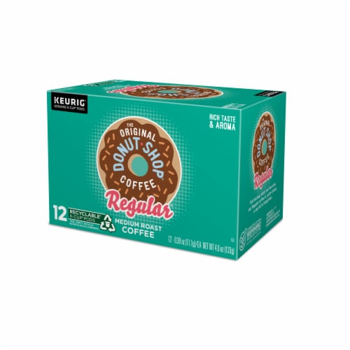 The Original Donut Shop Coffee Regular Medium Roast K-Cup Pods Perspective: top