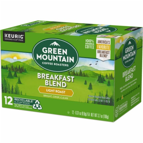 Green Mountain Coffee Roasters Breakfast Blend Light Roast K-Cup Pods Perspective: top