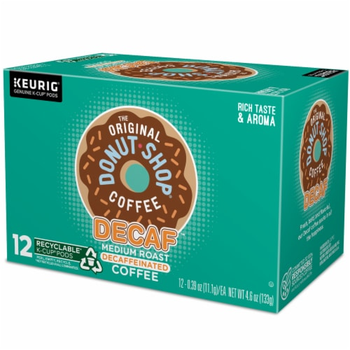The Original Donut Shop Decaf Medium Roast Coffee K-Cup Pods Perspective: top