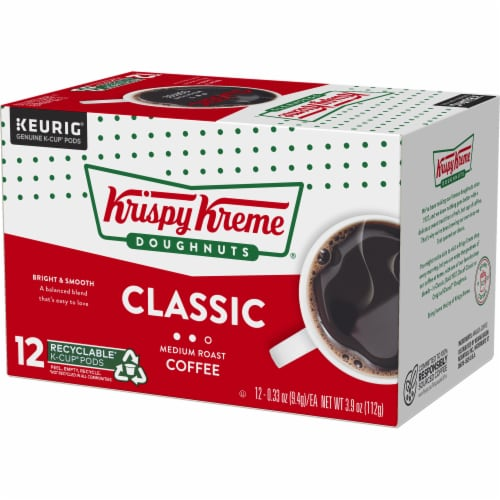 Krispy Kreme Classic Medium Roast Coffee K-Cup Pods Perspective: top