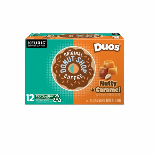 The Original Donut Shop Nutty Caramel Coffee K-Cup Pods Perspective: top