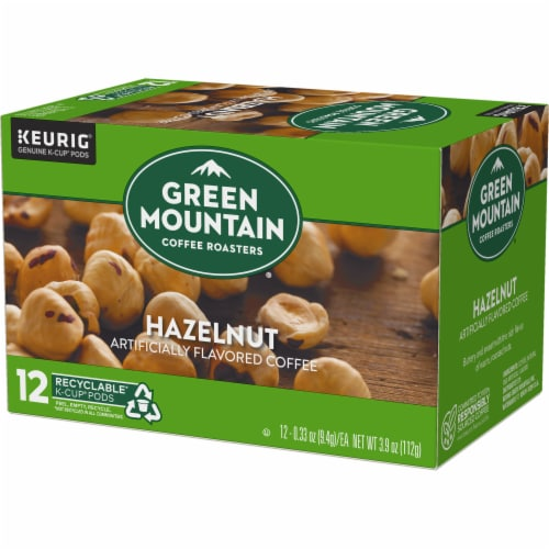 Green Mountain Coffee Hazelnut Coffee K-Cup Pods Perspective: top