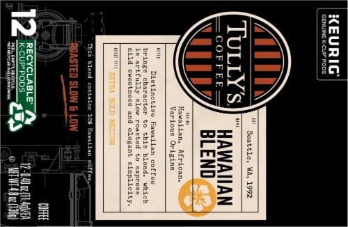 Tully's Coffee Hawaiian Blend Medium Roast Coffee K-Cup Pods Perspective: top