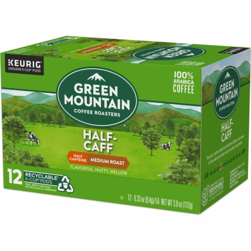 Green Mountain Coffee Roasters Half-Caff Medium Roast Coffee K-Cup Pods Perspective: top