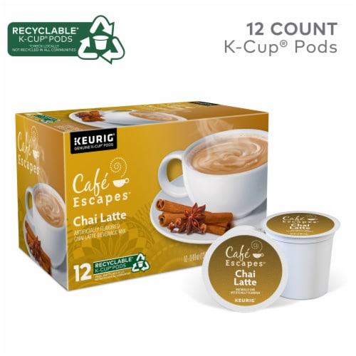 Cafe Escapes Chai Latte K-Cup Pods Perspective: top