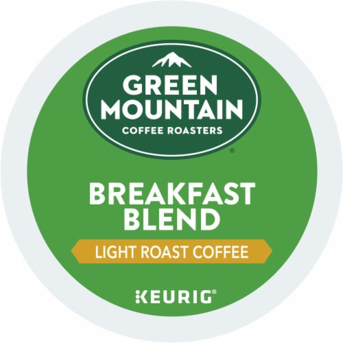 Green Mountain Coffee Roasters Light Roast Breakfast Blend Coffee K-Cup Pods Perspective: top