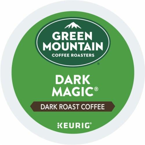 Green Mountain Dark Magic Dark Roast Coffee K-Cup Pods Perspective: top