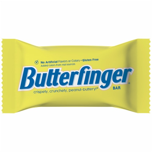 Butterfinger® Fun Size Peanut-Buttery Chocolate-y Halloween Candy Bars Jumbo Bag Perspective: top