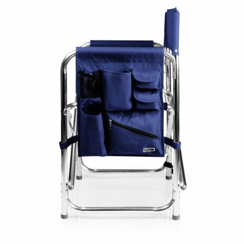 Sports Chair, Navy Blue Perspective: top