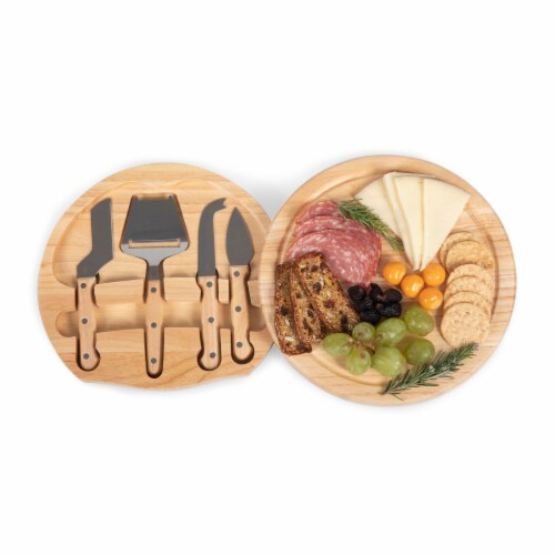 Circo Cheese Cutting Board & Tools Set, Rubberwood Perspective: top