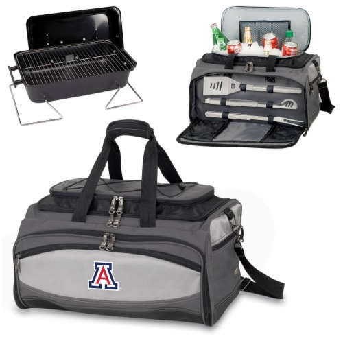 Arizona Wildcats - Portable Charcoal Grill & Cooler Tote Perspective: top
